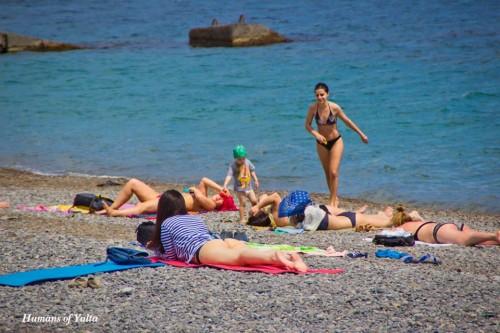 Майские праздники на пляже Ялты