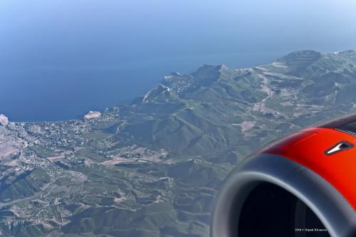 Вид на Крым из самолета